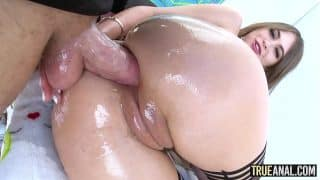 TRUE ANAL Tiny Riley Reid has her ass licked then fucked